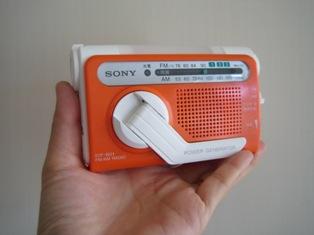 『SONY 手回し充電ラジオ ICF-B01』かわいい♪手のひらサイズ