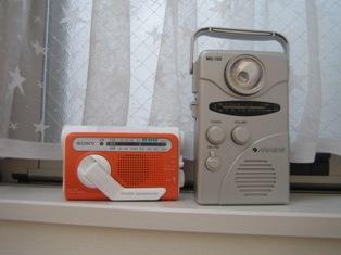 『SONY 手回し充電ラジオ ICF-B01』 以前の手回し充電ラジオと比較