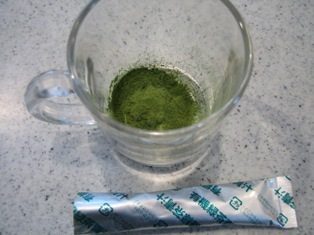 有機緑茶青汁の粉末