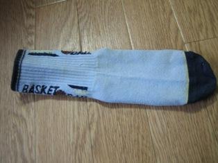 穴あき靴下活用法