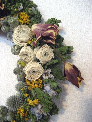 チューリップと菜の花のリース