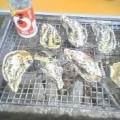 牡蠣とワンカップ