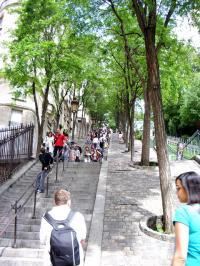 モンマルトルの丘階段