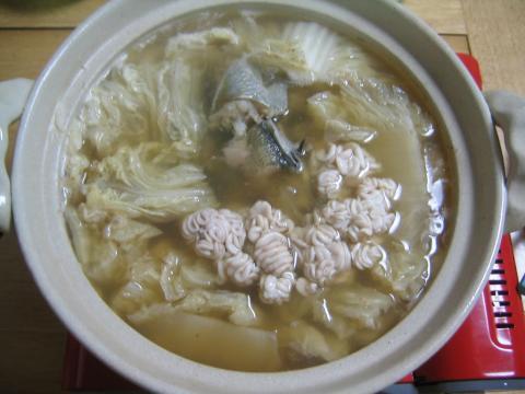 スケソウダラの水炊き