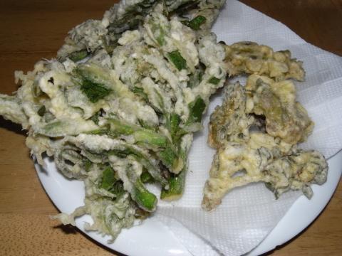 タランボとウドの天ぷら