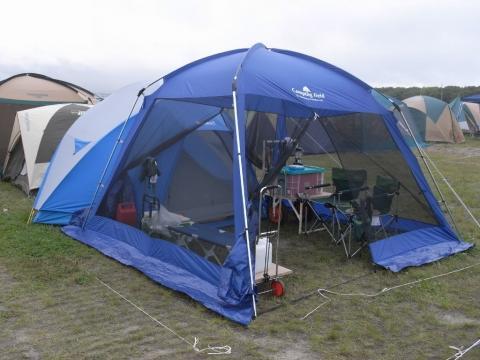 RSR・ライジングサンロックフェスティバル・テントサイト
