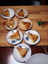 手作り梨のケーキ