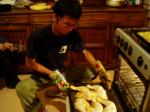 料理するタテちゃん
