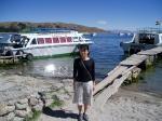 ティティカカ湖畔