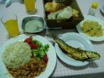 宿の夕食1
