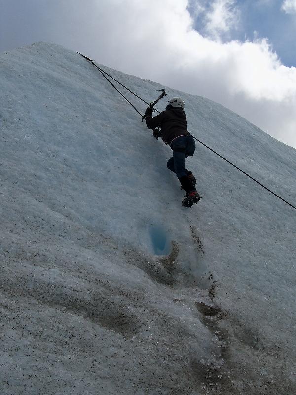 氷河クライミング