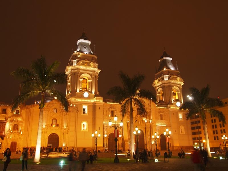 リマの教会ライトアップ