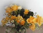 お客さんからのお花