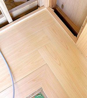 きれいな床板の納まり