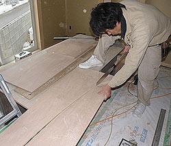 和室R付き下がり壁はノコ一本で切