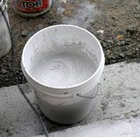攪拌機で混ぜた中塗壁ライト
