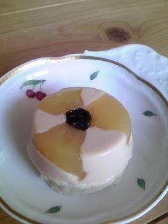 お花の豆腐レアチーズケーキ090629_0858~01