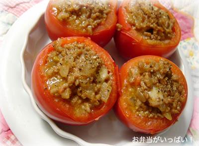 090723トマトの肉詰め焼き1