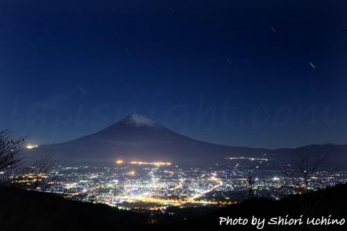 富士山と夜景