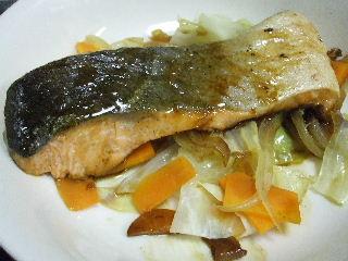 210623鮭と野菜のワイン蒸し1