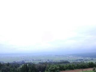 山の上のお蕎麦屋さんからの眺め