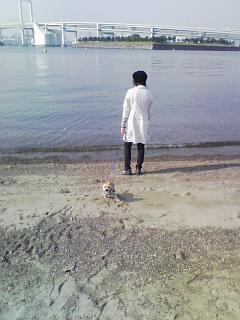 海を見てたそがれる娘と銀次2