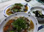 カレイの中華風蒸し物