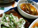ゴーヤサラダ&あんかけ豆腐カレー味