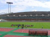 兵庫国体メイン会場の神戸ユニバー記念競技場