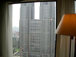 京王プラザホテル3902から見た都庁