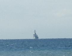 館山駅付近から見た護衛艦
