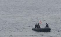 観艦式予行27日・潜水士