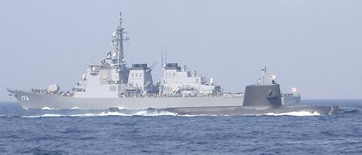 観艦式予行27日・「ちょうかい」&潜水艦