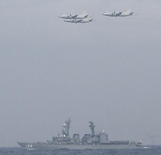 観艦式予行27日・「うみぎり」&UP-3C