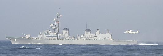 観艦式予行27日・「おおなみ」&SH-60着艦