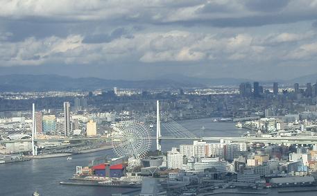 大阪南港WTC48階のレストランから見た景色