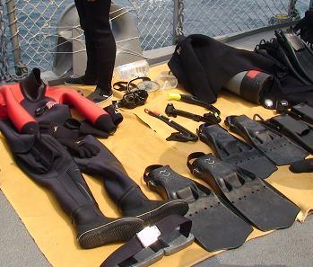 2007年度、舞鶴地方隊展示訓練「潜水装備の展示」