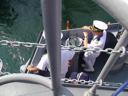 2007年8月5日呉地方隊展示訓練「出航」