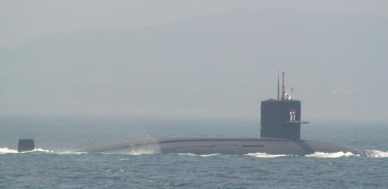 2007年8月5日呉地方隊展示訓練「潜水艦」