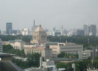 東京・ホテルの部屋からの眺め