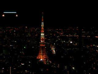 六本木ヒルズ展望台52階から眺めた夜景