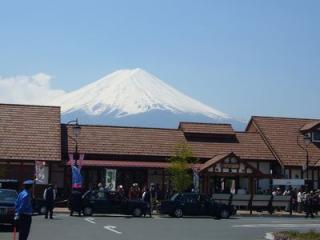 富士山もお出迎え