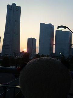 夕日を眺めるB氏