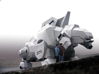 紙ロボット