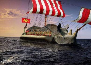 面白い船?