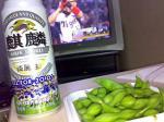 ビールと枝豆にタイガース