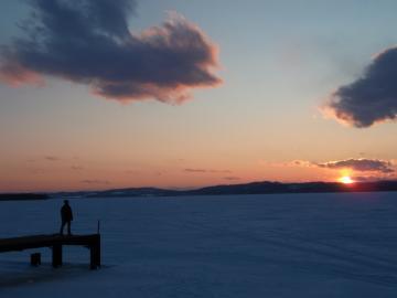 網走湖夕陽1