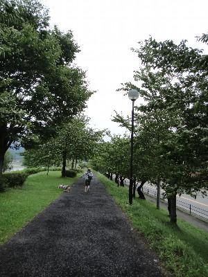 諏訪湖を歩く