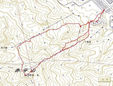 赤平山GPS