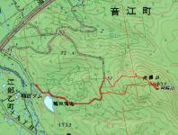 向陽山地図